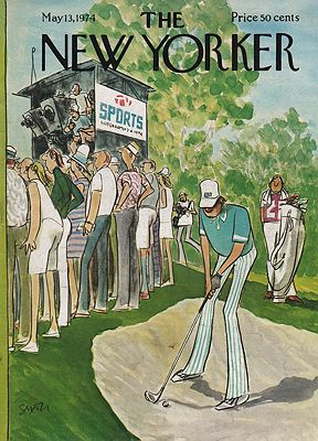 ORIG VINTAGE MAGAZINE COVER/ THE NEW YORKER - MAY 13, 1974Saxon (Illust.), Charles, Illust. by: Charles  Saxon - Product Image