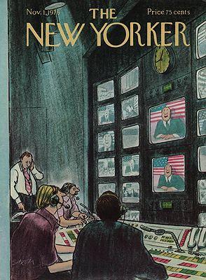 ORIG VINTAGE MAGAZINE COVER/ THE NEW YORKER - NOVEMBER 1 1976Saxon (Illust.), Charles, Illust. by: Charles  Saxon - Product Image