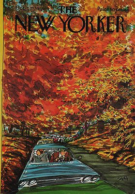 ORIG VINTAGE MAGAZINE COVER - THE NEW YORKER - OCTOBER 7 1974Saxon (Illust.), Charles, Illust. by: Charles  Saxon - Product Image