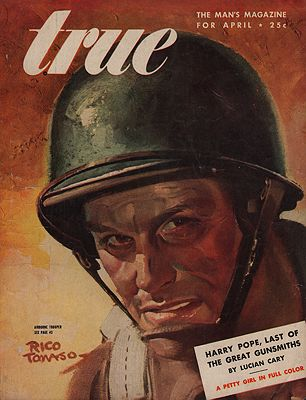 ORIG VINTAGE MAGAZINE COVER/ TRUE MAGAZINE APRIL 1945Tamaso (Illust.), Rico, Illust. by: Rico  Tomaso - Product Image
