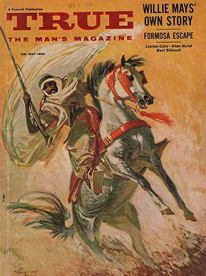 ORIG VINTAGE MAGAZINE COVER/ TRUE THE MAN'S MAGAZINE - MAY 1955Reusswig (Illust.), William, Illust. by: William  Reusswig - Product Image