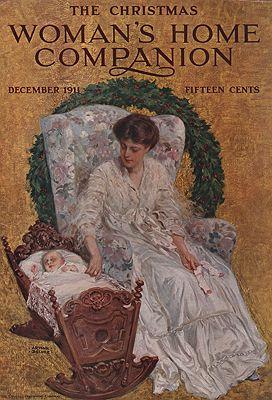 ORIG VINTAGE MAGAZINE COVER/ WOMAN'S HOME COMPANION - DECEMBER 1911illustrator- Arthur  Becher - Product Image