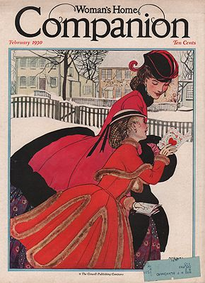 ORIG VINTAGE MAGAZINE COVER/ WOMAN'S HOME COMPANION - FEBRUARY 1930illustrator- Maginel Wright  Enright - Product Image