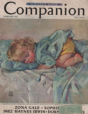 ORIG VINTAGE MAGAZINE COVER/ WOMAN'S HOME COMPANION - FEBRUARY 1937illustrator- Maud Tousey  Fangel - Product Image