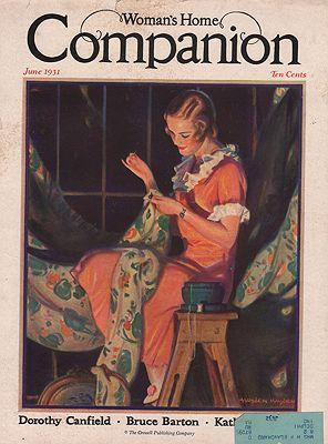 ORIG VINTAGE MAGAZINE COVER/ WOMAN'S HOME COMPANION - JUNE 1931illustrator- Hayden  Hayden - Product Image