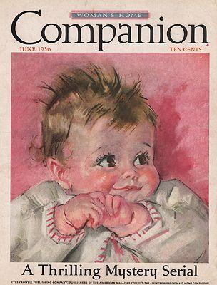 ORIG VINTAGE MAGAZINE COVER/ WOMAN'S HOME COMPANION - JUNE 1936illustrator- Maud Tousey  Fangel - Product Image