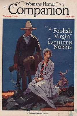 ORIG VINTAGE MAGAZINE COVER/ WOMAN'S HOME COMPANION - NOVEMBER 1927illustrator- John  Sheridan - Product Image