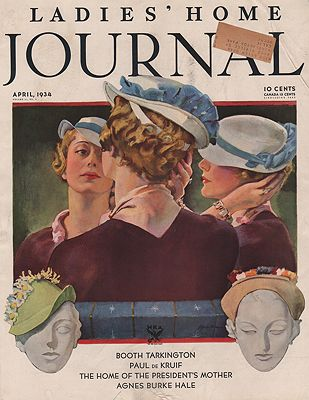 ORIG VINTAGE MAGAZINE COVER/ WOMANS HOME COMPANION - APRIL 1934Spreter (Illust.), Roy, Illust. by: Roy  Spreter - Product Image