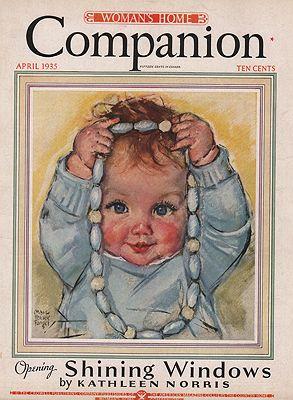 ORIG VINTAGE MAGAZINE COVER/ WOMAN'S HOME COMPANION - APRIL 1935Fangel (Illust.), Maud Tousey, Illust. by: Maud Tousey  Fangel - Product Image