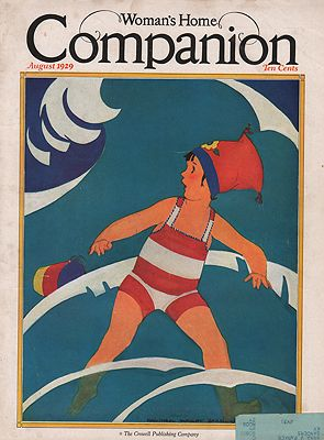 ORIG VINTAGE MAGAZINE COVER/ WOMAN'S HOME COMPANION - AUGUST 1929Barney (Illust.), Maginel Wright, Illust. by: Maginel Wright  Barney - Product Image