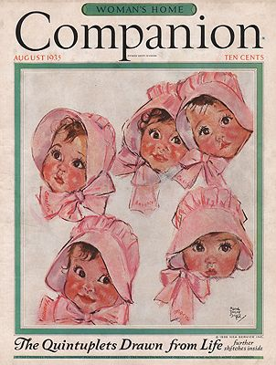 ORIG VINTAGE MAGAZINE COVER/ WOMAN'S HOME COMPANION - AUGUST 1935Fangel (Illust.), Maud Tousey, Illust. by: Maud Tousey  Fangel - Product Image