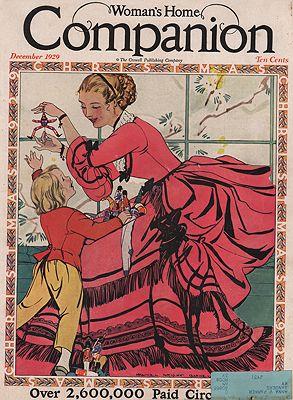 ORIG VINTAGE MAGAZINE COVER/ WOMANS HOME COMPANION DECEMBER 1929Barney (Illust.), Maginel Wright, Illust. by: Maginel Wright  Barney - Product Image