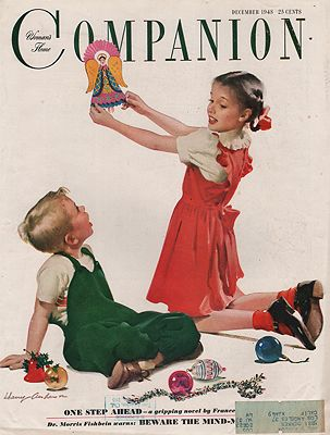 ORIG VINTAGE MAGAZINE COVER/ WOMAN'S HOME COMPANION - DECEMBER 1948Anderson, Harry, Illust. by: Harry   Anderson - Product Image