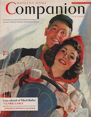 ORIG VINTAGE MAGAZINE COVER/ WOMAN'S HOME COMPANION - FEBRUARY 1940Henry (Illust.), Edwin, Illust. by: Edwin  Henry - Product Image
