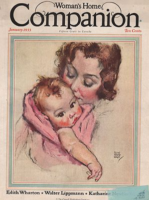 ORIG VINTAGE MAGAZINE COVER/ WOMAN'S HOME COMPANION - JANUARY 1933Fangel (Illust.), Maud Tousey, Illust. by: Maud Tousey  Fangel - Product Image