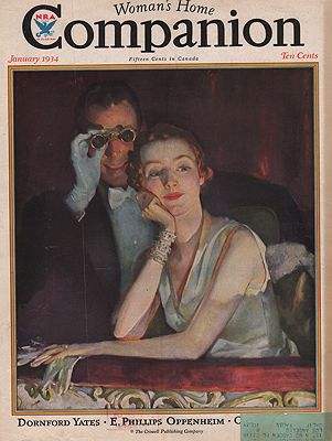 ORIG VINTAGE MAGAZINE COVER/ WOMANS HOME COMPANION - JANUARY 1934Spreter (Illust.), Roy, Illust. by: Roy  Spreter - Product Image