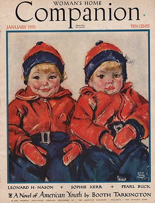 ORIG VINTAGE MAGAZINE COVER/ WOMAN'S HOME COMPANION - JANUARY 1935Fangel (Illust.), Maud Tousey, Illust. by: Maud Tousey  Fangel - Product Image