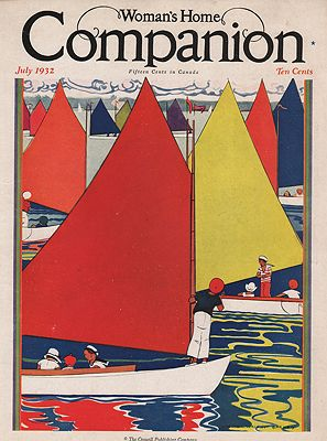 ORIG VINTAGE MAGAZINE COVER/ WOMAN'S HOME COMPANION - JULY 1932Barney (Illust.), Maginel Wright - Product Image