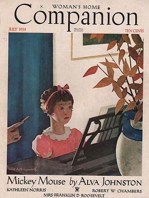 ORIG VINTAGE MAGAZINE COVER/ WOMAN'S HOME COMPANION - JULY 1934Hollingsworth (Illust.), Will, Illust. by: Will  Hollingsworth - Product Image
