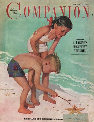 ORIG VINTAGE MAGAZINE COVER/ WOMAN'S HOME COMPANION - JULY 1949Anderson (Illust.), Harry, Illust. by: Harry  Anderson - Product Image