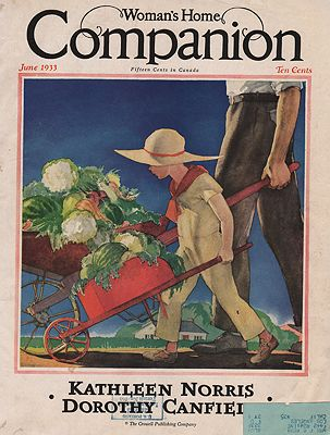 ORIG VINTAGE MAGAZINE COVER/ WOMAN'S HOME COMPANION - JUNE 1933Hollingsworth (Illust.), Will, Illust. by: Will  Hollingsworth - Product Image