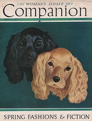 ORIG VINTAGE MAGAZINE COVER/ WOMAN'S HOME COMPANION - MARCH 1937Atherton (Illust.), John, Illust. by: John  Atherton - Product Image