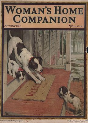 ORIG VINTAGE MAGAZINE COVER/ WOMAN'S HOME COMPANION - NOVEMBER 1924Davis (Illust.), Warren, Illust. by: Warren  Davis - Product Image