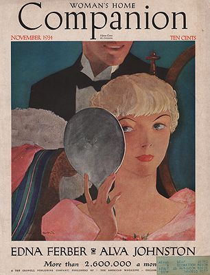 ORIG VINTAGE MAGAZINE COVER/ WOMAN'S HOME COMPANION - NOVEMBER 1934Hollingsworth (Illust.), Will, Illust. by: Will  Hollingsworth - Product Image