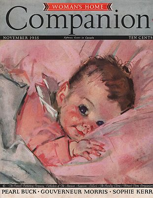 ORIG VINTAGE MAGAZINE COVER/ WOMAN'S HOME COMPANION - NOVEMBER 1935Fangel (Illust.), Maud Tousey, Illust. by: Maud Tousey  Fangel - Product Image