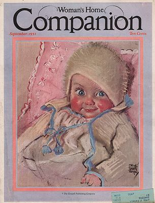 ORIG VINTAGE MAGAZINE COVER/ WOMAN'S HOME COMPANION - SEPTEMBER 1931Fangel (Illust.), Maud Tousey, Illust. by: Maud Tousey  Fangel - Product Image