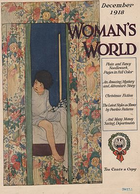 ORIG VINTAGE MAGAZINE COVER/ WOMAN'S WORLD - DECEMBER 1918illustrator- Maginel Wright  Enright - Product Image