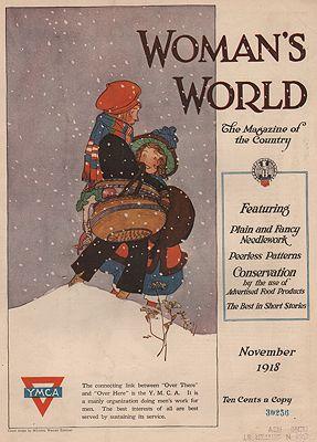 ORIG VINTAGE MAGAZINE COVER/ WOMAN'S WORLD - NOVEMBER 1918illustrator- Maginel Wright  Enright - Product Image