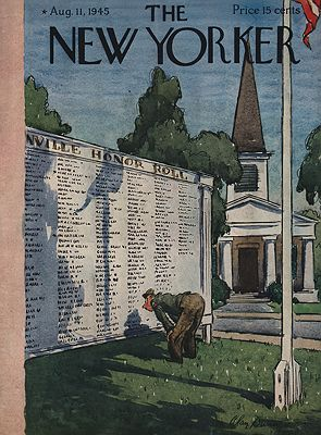 ORIG VINTAGE MAGAZINE COVER/THE NEW YORKER - AUGUST 11 1945Dunn (Illust.), Alan, Illust. by: Alan  Dunn - Product Image