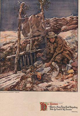 ORIG VINTAGE MAGAZINE ILLUSTRATION - HIS CHRISTMAS - PICTORIAL RECORD DECEMBER 1915illustrator- Arthur I.  Keller - Product Image