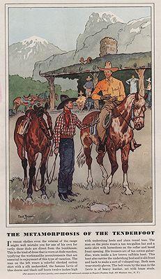 ORIG VINTAGE MAGAZINE ILLUSTRATION / ESQUIRE AUGUST 1937illustrator- Paul  Brown - Product Image