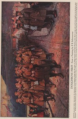 ORIG VINTAGE MAGAZINE ILLUSTRATION / DOUGHBOYS FIRST - Schoonover (Illust.), Frank E., Illust. by: Frank E.  Schoonover - Product Image