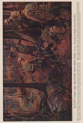 ORIG VINTAGE MAGAZINE ILLUSTRATION / SCOTTY AND HIS BELOVED SHO-SHO GUNHoskins (Illust.), Gayle Porter, Illust. by: Gayle Porter  Hoskins - Product Image