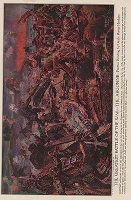 ORIG VINTAGE MAGAZINE ILLUSTRATION / THE GREATEST BATTLE OF THE WAR - THE ARGONNEHoskins (Illust.), Gayle Porter, Illust. by: Gayle Porter  Hoskins - Product Image