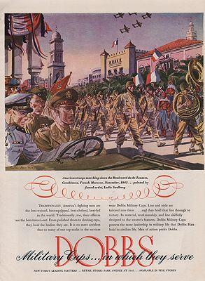 ORIG VINTAGE WWII DOBBS HAT ADillustrator- Leslie  Saalburg - Product Image