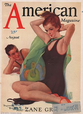 ORIG. VINTAGE MAGAZINE COVER - AMERICAN MAGAZINE - AUGUST 1931Chambers (Illust.), C.E., Illust. by: C.E.  Chambers - Product Image