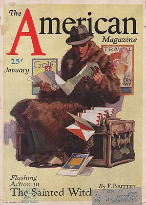 ORIG. VINTAGE MAGAZINE COVER - AMERICAN MAGAZINE - JANUARY 1931Sheridan (Illust.), John, Illust. by: John  Sheridan - Product Image