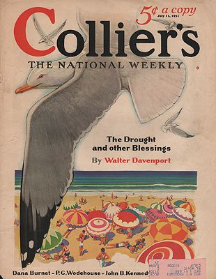 ORIG. VINTAGE MAGAZINE COVER/ COLLIER'S - JULY 11. 1931N/A - Product Image