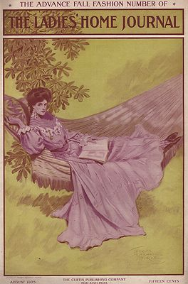 ORIG. VINTAGE MAGAZINE COVER - LADIES HOME JOURNAL - AUGUST 1905Peirce (Illust.), Thomas Mitchell, Illust. by: Thomas Mitchell  Peirce - Product Image