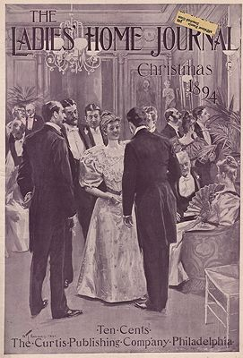ORIG. VINTAGE MAGAZINE COVER - LADIES HOME JOURNAL - CHRISTMAS DECEMBER 1894Smedley (Illust.), W.T., Illust. by: W.T.  Smedley - Product Image