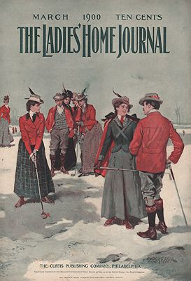 ORIG. VINTAGE MAGAZINE COVER - LADIES HOME JOURNAL - MARCH 1900Keller (Illust.), Arthur I., Illust. by: Arthur I.  Keller - Product Image