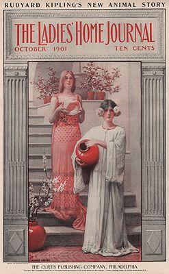 ORIG. VINTAGE MAGAZINE COVER - LADIES HOME JOURNAL - OCTOBER 1901Herter (Illust.), Albert, Illust. by: Albert  Herter - Product Image