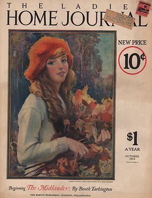 ORIG. VINTAGE MAGAZINE COVER - LADIES HOME JOURNAL - OCTOBER 1923Brunner (Illust.), F. Sands, Illust. by: F. Sands  Brunner - Product Image
