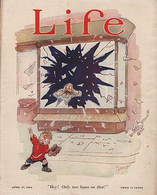 ORIG. VINTAGE MAGAZINE COVER/ LIFE - APRIL 17 1924Crosby (Illust.), Percy, Illust. by: Percy  Crosby - Product Image
