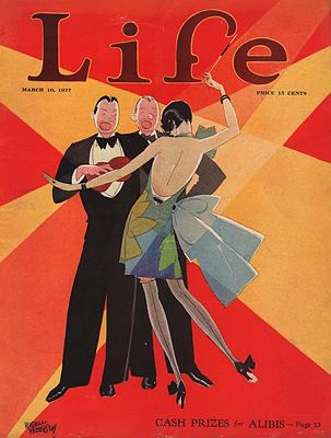 ORIG. VINTAGE MAGAZINE COVER/ LIFE - MARCH 10 1927Patterson (Illust.), Russell, Illust. by: Russell  Patterson - Product Image