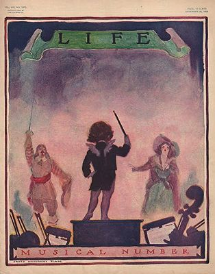 ORIG. VINTAGE MAGAZINE COVER/ LIFE - NOVEMBER 25 1909Flagg (Illust.), James Montgomery, Illust. by: James Montgomery  Flagg - Product Image